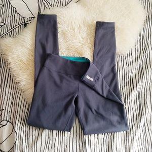 Zella Reversible Gray and Blue Midrise Leggings